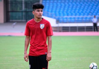 Indian national team midfielder Anirudh Thapa (Photo courtesy: AIFF Media)