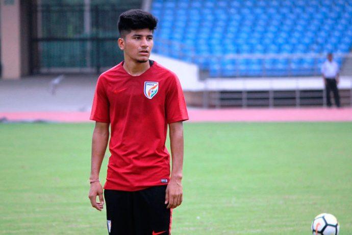 Indian national team midfielder Anirudh Thapa (Photo courtesy: AIFF Media)