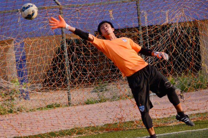 Bengaluru FC goalkeeper Soram Poirei (Photo courtesy: Bengaluru FC)