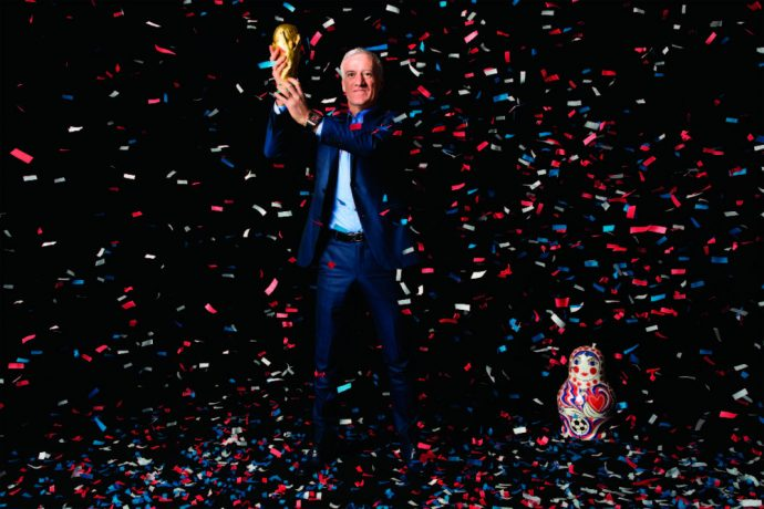 France head coach Didier Deschamps with the FIFA World Cup Trophy. (Photo courtesy: Hublot)