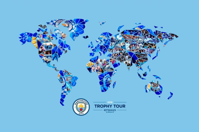 Manchester City Centurions Trophy Tour 2018 (Image courtesy: Manchester City FC)
