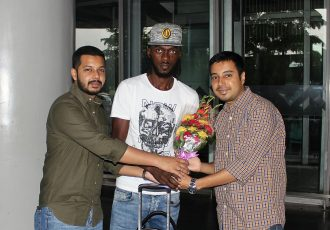 Bazie Armand arrives in Kolkata to join Mohammedan Sporting Club. (Photo courtesy: Mohammedan Sporting Club)