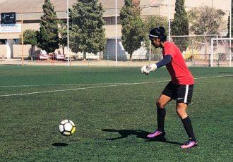 India Women's goalkeeper Panthoi Chanu (Photo courtesy: AIFF Media)