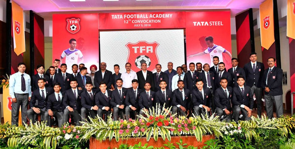 Tata Football Academy organises its 12th Cadet Convocation 2018. (Photo courtesy: Tata Steel)