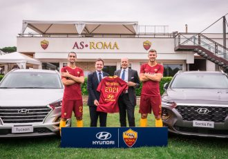 Hyundai Motor signs new multi-year agreement with AS Roma to become Global Automotive Partner. (Photo courtesy: Hyundai Motor Company)