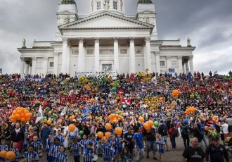 Helsinki Cup 2018 started with a world record attempt. (PRNewsfoto/Helsingin kaupunki)