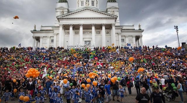 Helsinki Cup 2018 started with a world record attempt. (PRNewsfoto/Helsingin kaupunki)