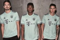 Mats Hummels, David Alaba and James Rodrigues present the new FC Bayern München away kit by adidas for the 2018/19 season. (Photo courtesy: adidas)