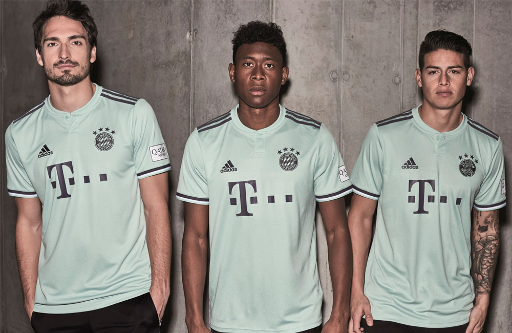 sports shoes e1472 2c76f adidas reveals new FC Bayern Munich away jersey for 2018/19 ...