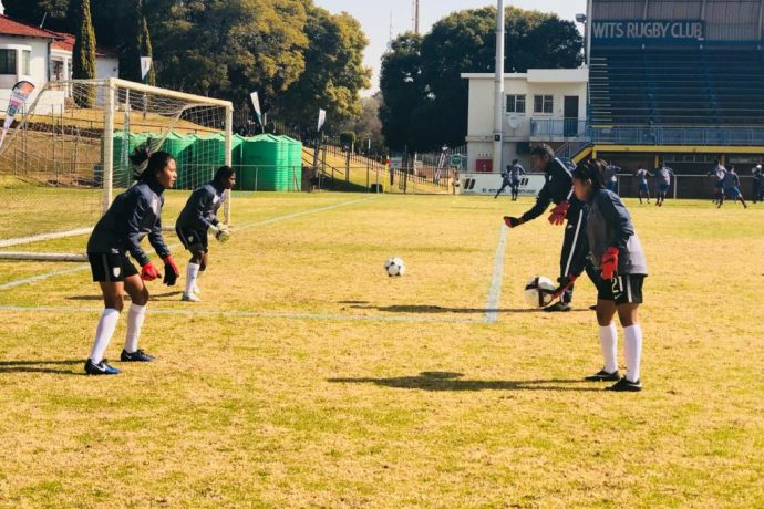 India U-17 Women's national team during a training session in Johannesburg, South Africa. (Photo courtesy: AIFF Media)