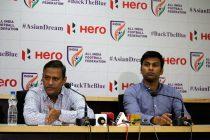 Kushal Das, General Secretary, AIFF and Abhishek Yadav, Director of National Teams, AIFF during a press conference. (Photo courtesy: AIFF Media)