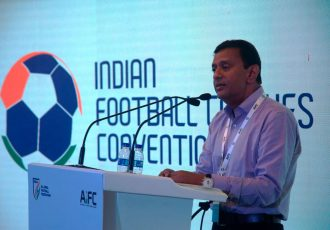 All India Football Federation General Secretary Kushal Das during the Indian Football Coaches Convention (IFCC) 2018 in Navi Mumbai. (Photo courtesy: AIFF Media)