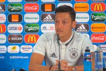Mesut Özil during a German national team press conference.