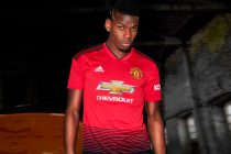 Paul Pogba presents the new Manchester United home kit by adidas for 2018/19 season. (Photo courtesy: adidas)
