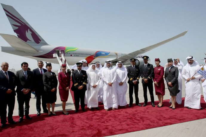 Qatar Airways brings FIFA World Cup excitement to the skies with bespoke FIFA-branded Boeing 777 aircraft. (Photo courtesy: Qatar Airways)