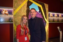 Theresa Ernst with Germany legend Bastian Schweinsteiger. (© Theresa Ernst)