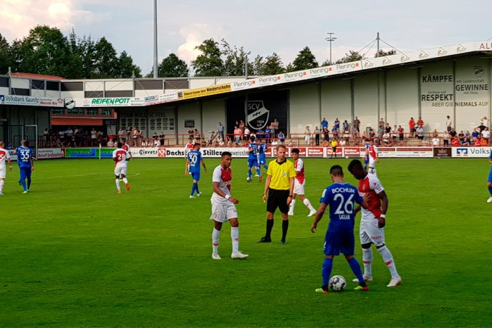 Bundesliga 2 side VfL Bochum held Ligue 1 runners-up AS Monaco to a 2-2 draw in a pre-season friendly match at the Sportclub Arena in Verl, Germany on July 25, 2018. (© CPD Football)