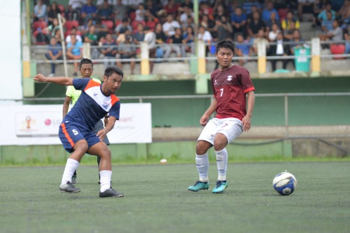 Electric Veng FC hold Chanmari FC goalless in LG Independence Cup. (Photo courtesy: Mizoram Football Association)
