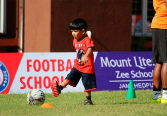 Jamshedpur FC launches its first Football School at Mt. Litera Zee School (Photo courtesy: Jamshedpur FC)