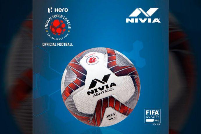 NIVIA Ashtang, the offical match ball of the Hero Indian Super League (ISL). (Photo courtesy: NIVIA)