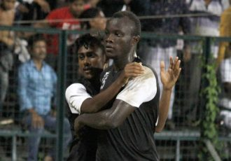 Mohammedan Sporting Club striker Princewill Emeka Olariche (Photo courtesy: Mohammedan Sporting Club)