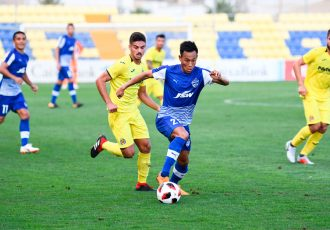Bengaluru FC winger Udanta Singh in action against Villarreal CF B at the Mini Estadi in Villarreal. (Photo courtesy: Bengaluru FC)