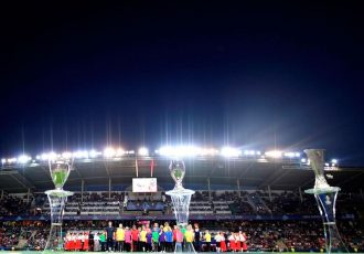Blind children take centre stage in Tallinn for UEFA Super Cup (Photo courtesy: UEFA)