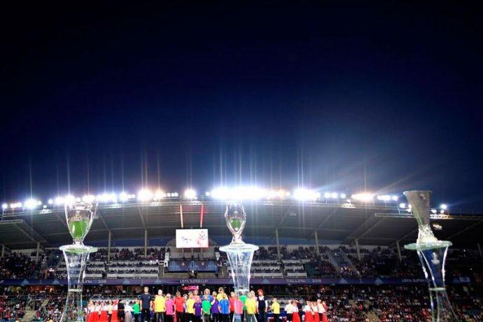 Blind children take centre stage in Tallinn for UEFA Super Cup (Photo courtesy: UEFA)