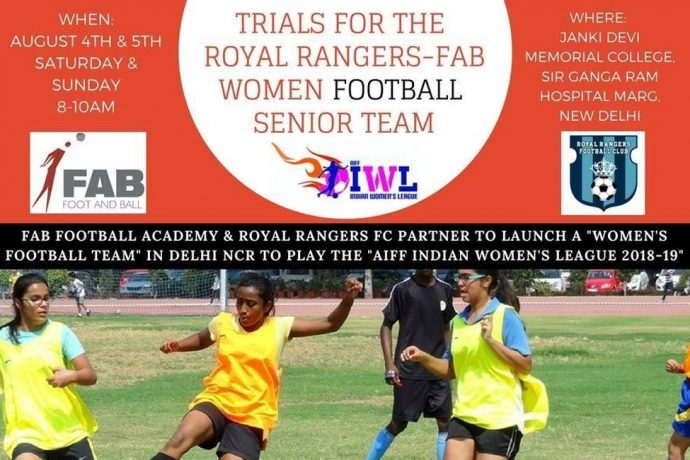 Royal Rangers FC – FAB Women's football senior team trials in Delhi