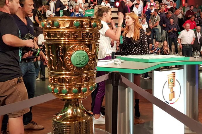 DFB-Pokal (German Cup) draw ceremony at the Deutsches Fußballmuseum (German Football Museum) in Dortmund. (© CPD Football)