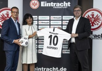 Eintracht Frankfurt and global cyber security leader Kaspersky Lab have entered into a long term partnership with a variety of benefits for both parties. (Photo courtesy: Kaspersky Lab)