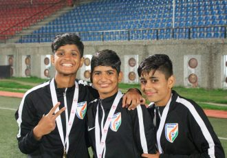 India U-15 Women's national team goalkeepers (Photo courtesy: AIFF Media)