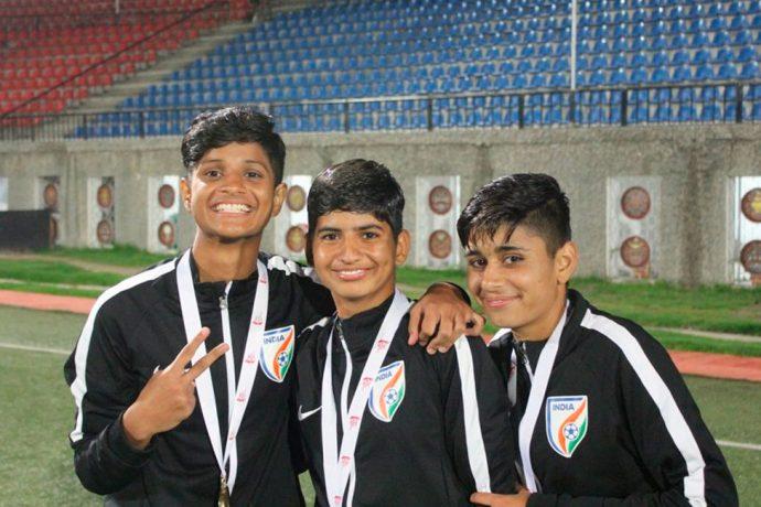 India U-15 Women's national team goalkeepers (Photo courtesy: AIFF Media)