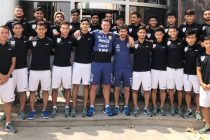 India U-20 national team with Argentina legends Pablo Aimar and Lionel Scaloni (Photo courtesy: AIFF Media)