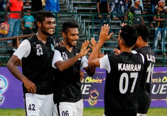 Mohammedan Sporting Club players celebrating a win. (Photo courtesy: Mohammedan Sporting Club)