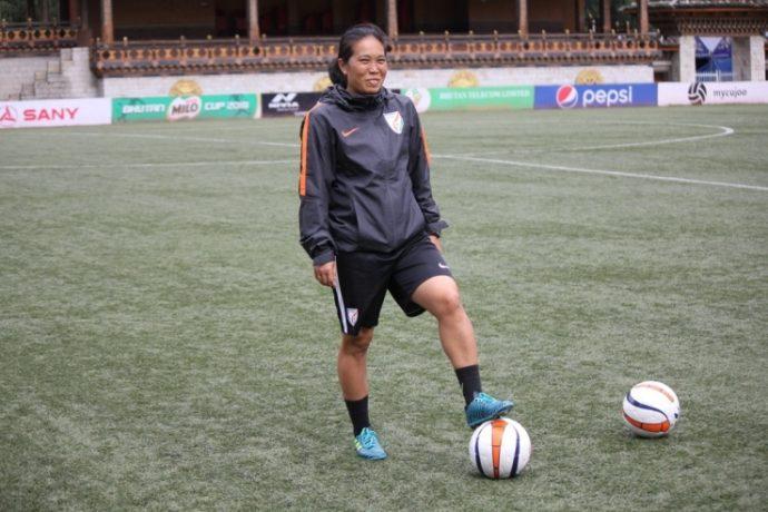Indian Women's football legend Oinam Bembem Devi (Photo courtesy: AIFF Media)