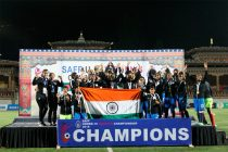 India U-15 Girls win the 2018 SAFF U-15 Women's Championship (Photo courtesy: AIFF Media)
