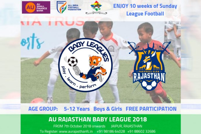 AU Rajasthan FC announces Baby League to promote young footballers in Rajasthan. (Image courtesy: AU Rajasthan FC)
