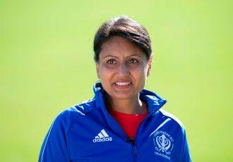 English amateur women's football pioneer Parm Gill of Guru Nanak FC. (Photo courtesy: UEFA)