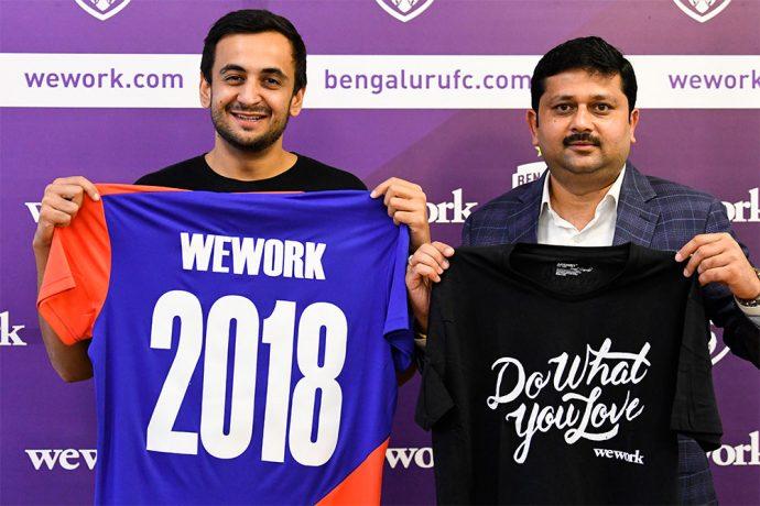 WeWork CWeO Karan Virwani and Bengaluru FC CTO Mandar Tamhane. (Photo courtesy: Bengaluru FC)