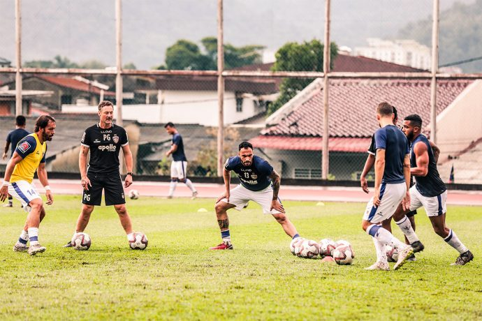 Chennaiyin FC training session (Photo courtesy: Chennaiyin FC)