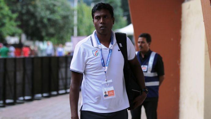 Indian national team assistant coach Shanmugam Venkatesh (Photo courtesy: AIFF Media)