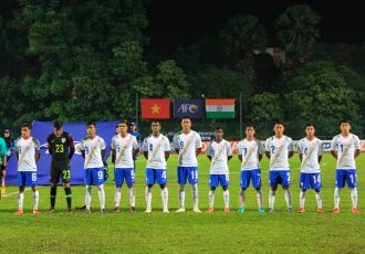 The India U-16 national team at the AFC U-16 Championship Malaysia 2018. (Photo courtesy: AIFF Media)