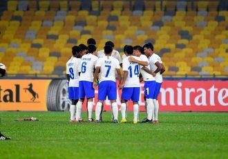 The India U-16 national team at the AFC U-16 Championship Malaysia 2018. (Photo courtesy: AIFF Media)