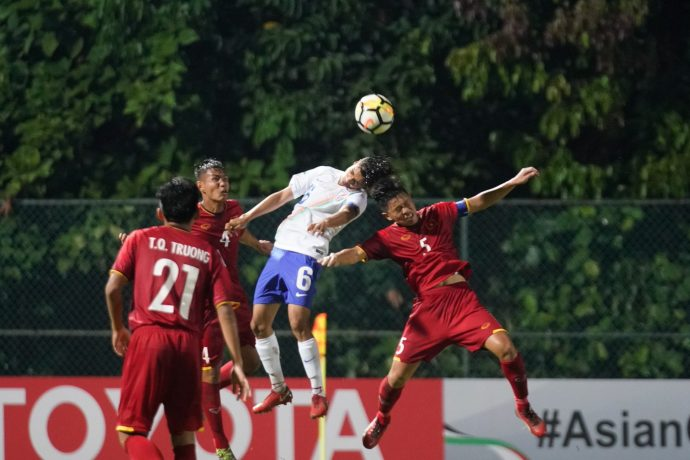 AFC U-16 Championship match action between India U-16 and Vietnam U-16. (Photo courtesy: AIFF Media)