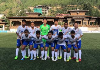 India U-18 Women's national team at the SAFF U-18 Women's Championship 2018. (Photo courtesy: AIFF Media)