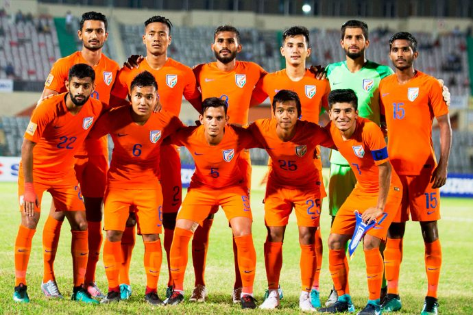 India U-23 national team at the SAFF Suzuki Cup 2018. (Photo courtesy: AIFF Media)