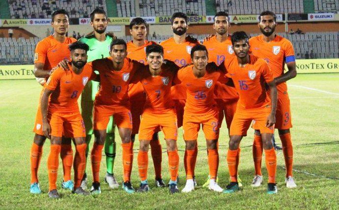 India U-23 national team at the SAFF Suzuki Cup 2018 in Dhaka, Bangladesh. (Photo courtesy: AIFF Media)