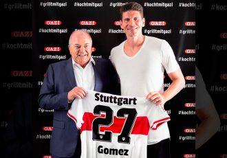Dr. Eduardo Garcia, Founder, garmo AG and VfB Stuttgart striker Mario Gomez. (Photo courtesy: garmo AG)