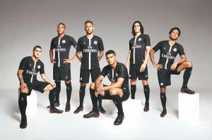 The Paris Saint-Germain squad wearing the Jordan Brand collection. (Photo courtesy: Paris Saint-Germain)